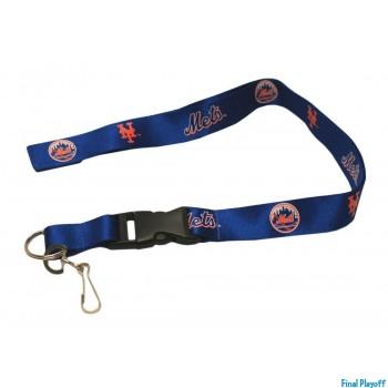 New York Mets lanyard keychain detachable | Final Playoff