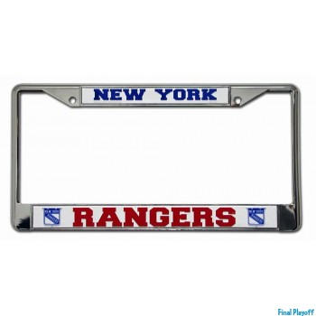 New York Rangers license plate frame holder | Final Playoff