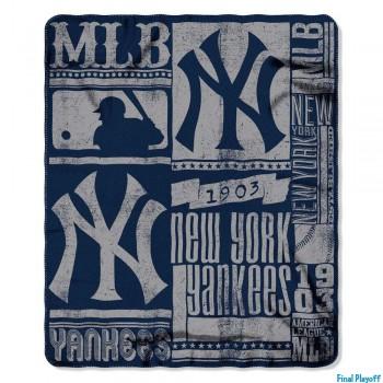 New York Yankees fleece throw blanket | Final Playoff
