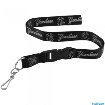 New York Yankees lanyard keychain detachable blackout | Final Playoff