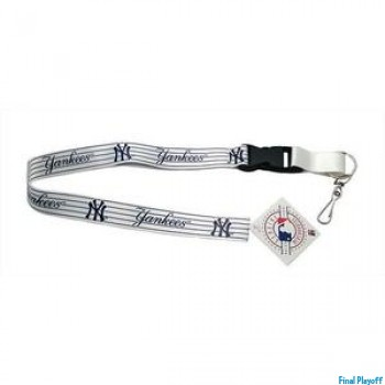 New York Yankees lanyard keychain detachable White | Final Playoff