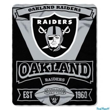 Oakland Raiders fleece throw blanket | Final Playoff