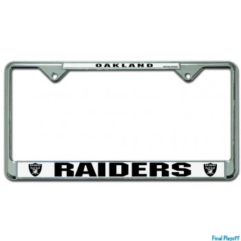 Oakland Raiders license plate frame silver | Final Playoff