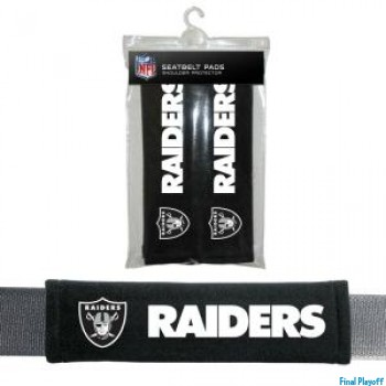 Oakland Raiders seat belt pads | Final Playoff