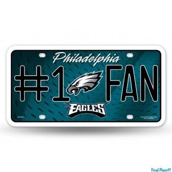 Philadelphia Eagles metal license plate   Final Playoff