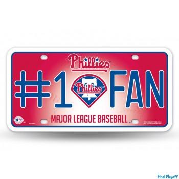 Philadelphia Phillies metal license plate   Final Playoff