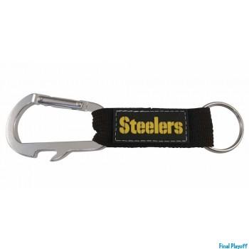 Pittsburgh Steelers bottle opener keychain carabiner | Final Playoff