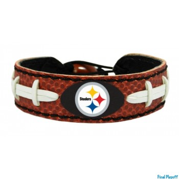 Pittsburgh Steelers leather bracelet | Final Playoff