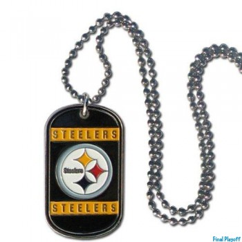 Pittsburgh Steelers dog tag necklace | Final Playoff