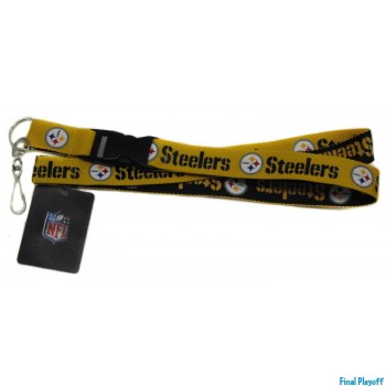 Pittsburgh Steelers lanyard keychain detachable 2 tone | Final Playoff