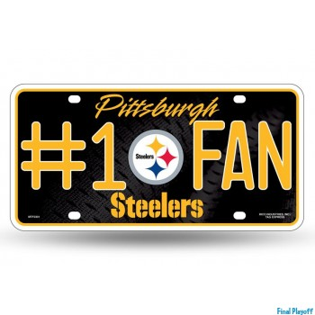Pittsburgh Steelers metal license plate   Final Playoff