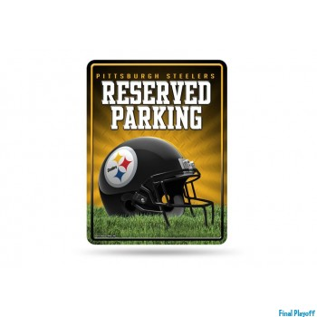 Pittsburgh Steelers metal parking sign | Final Playoff