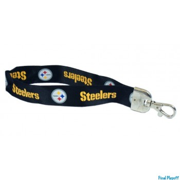 Pittsburgh Steelers wristlet lanyard lobster clasp | Final Playoff
