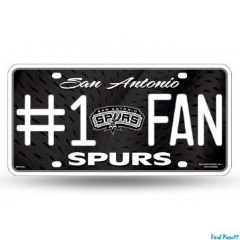 San Antonio Spurs metal license plate | Final Playoff