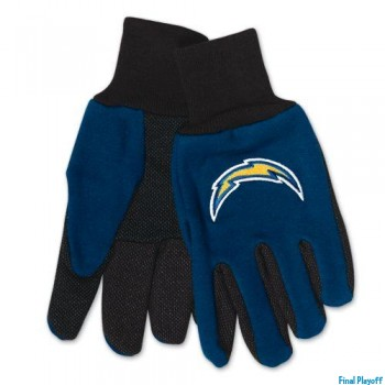 San Diego Chargers two tone utility gloves | Final Playoff