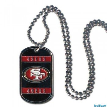 San Francisco 49ers dog tag necklace | Final Playoff
