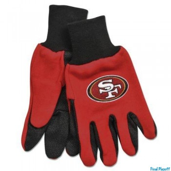 San Francisco 49ers two tone utility gloves | Final Playoff