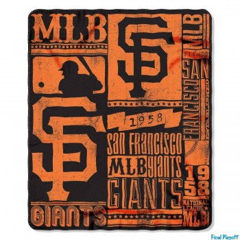 San Francisco Giants fleece throw blanket | Final Playoff