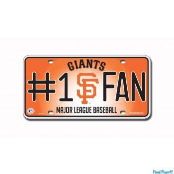 San Francisco Giants metal license plate   Final Playoff