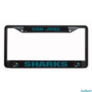 San Jose Sharks license plate frame black | Final Playoff