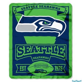 Seattle Seahawks fleece throw blanket   Final Playoff
