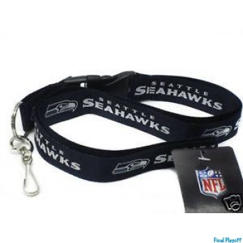 Seattle Seahawks lanyard keychain detachable black | Final Playoff