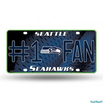 Seattle Seahawks metal license plate | Final Playoff