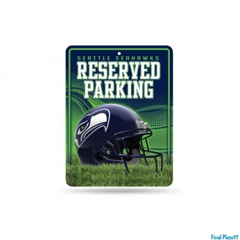 Seattle Seahawks metal parking sign   Final Playoff