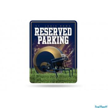 St. Louis Rams metal parking sign | Final Playoff