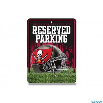 Tampa Bay Buccaneers metal parking sign   Final Playoff