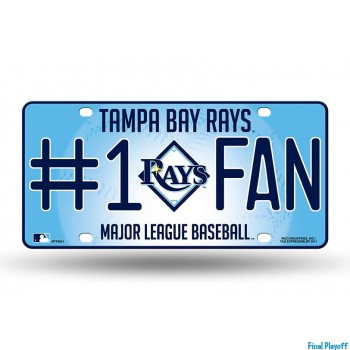 Tampa Bay Rays metal license plate | Final Playoff