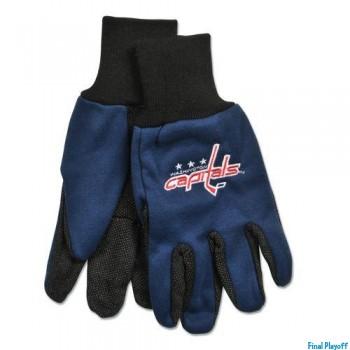Washington Capitals two tone utility gloves | Final Playoff