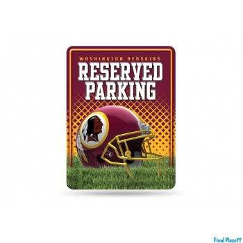 Washington Redskins metal parking sign | Final Playoff