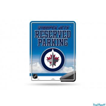Winnipeg Jets metal parking sign   Final Playoff