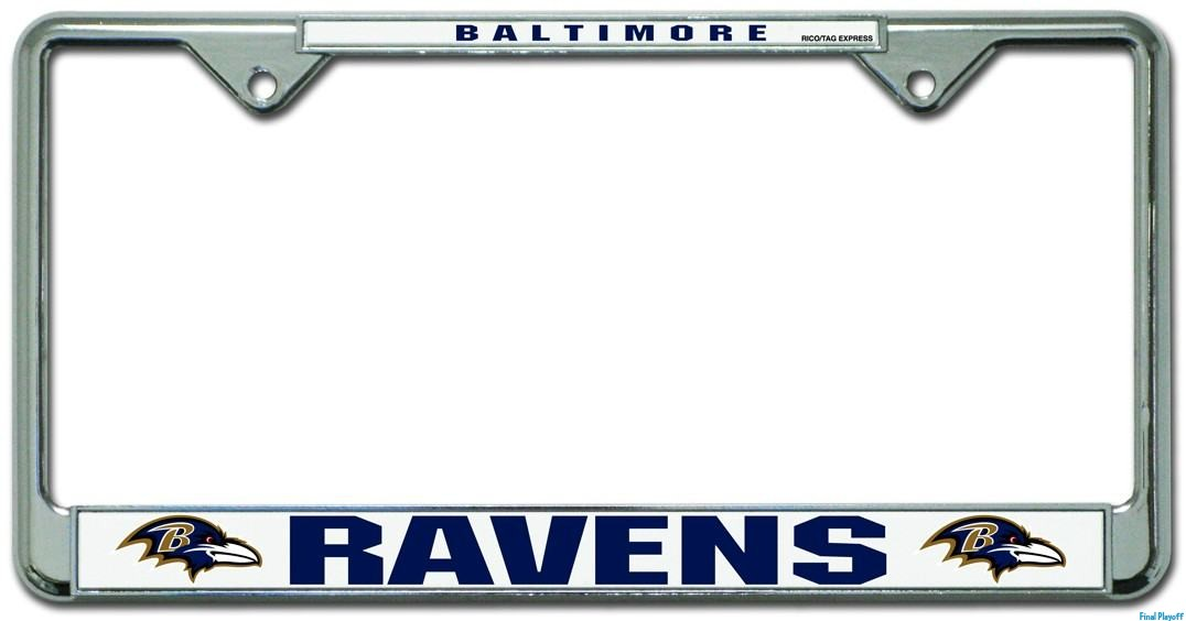 Baltimore Ravens license plate frame holder | Final Playoff