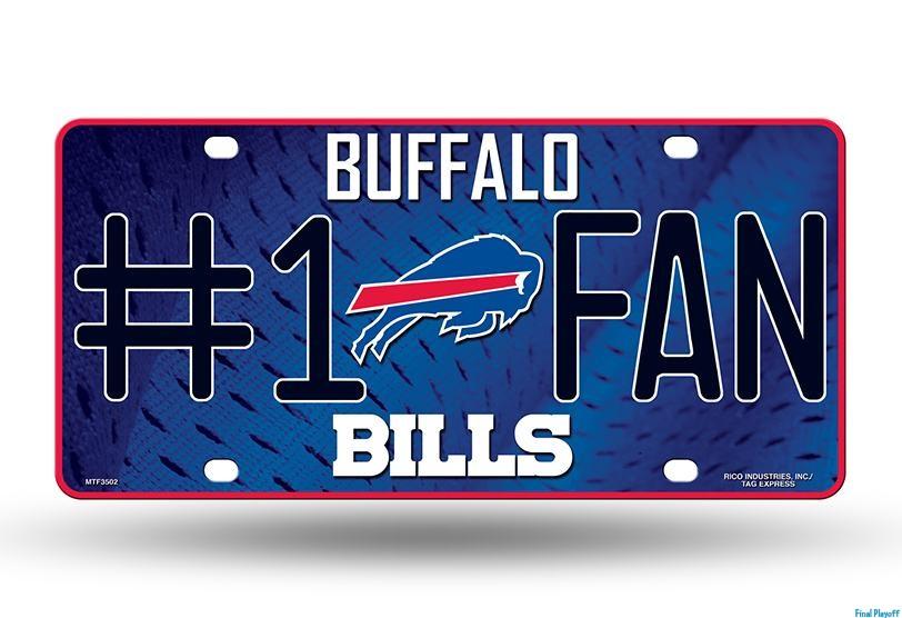 Buffalo Bills metal license plate | Final Playoff