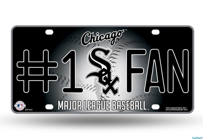 Black License Plate Chicago White Sox