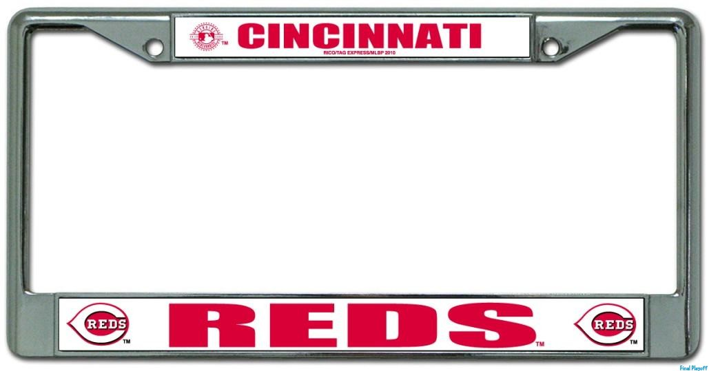 Cincinnati Reds license plate frame holder | Final Playoff