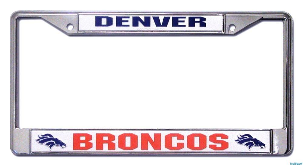 Denver Broncos license plate frame holder | Final Playoff