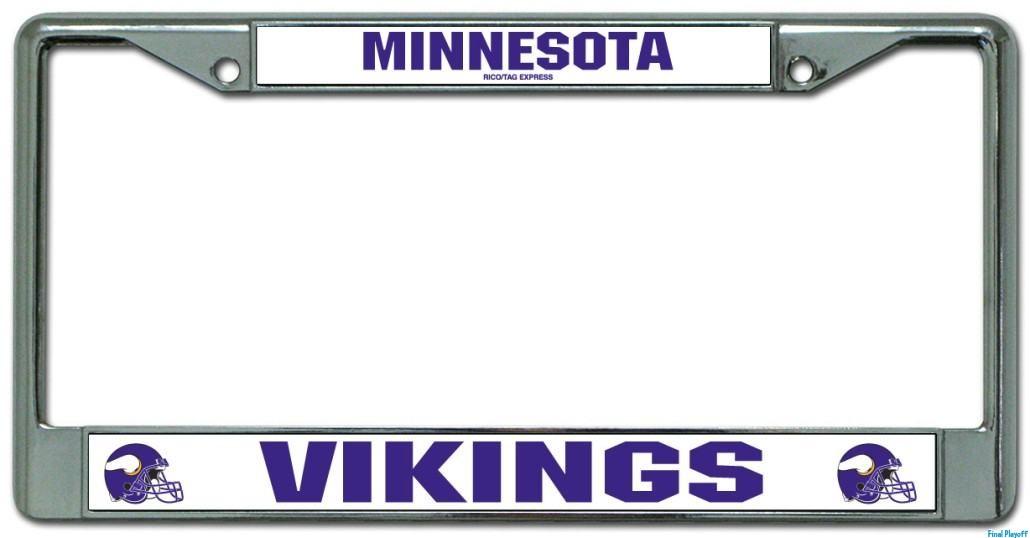 Minnesota Vikings license plate frame holder   Final Playoff