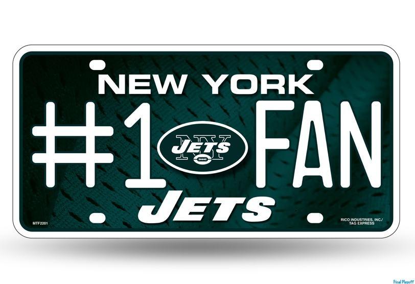 New York Jets Bling Metal License Plate Frame