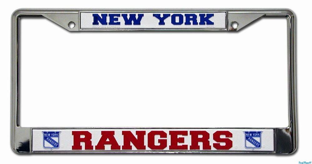 New York Rangers license plate frame holder | Final Playoff