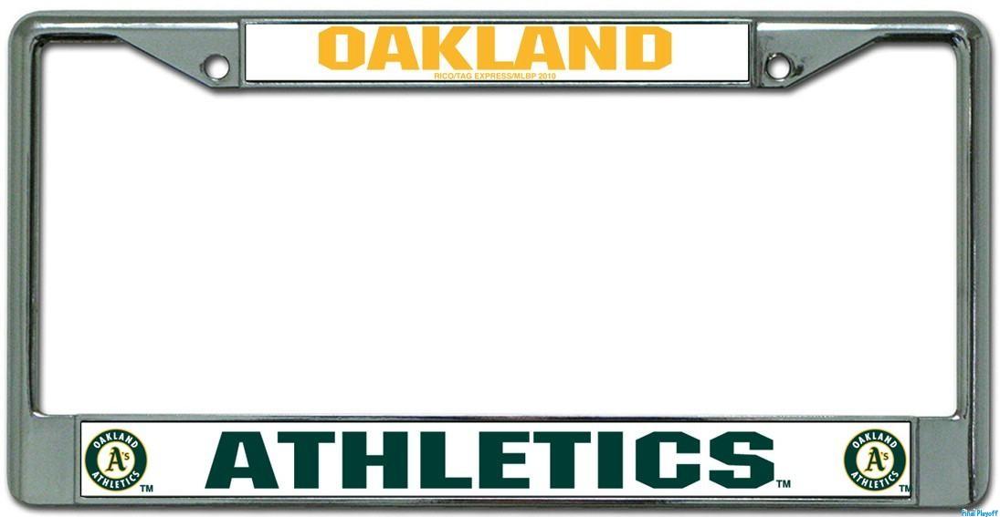 Oakland Athletics license plate frame holder | Final Playoff