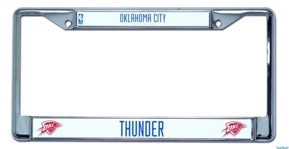 Oklahoma City Thunder license plate frame holder | Final Playoff