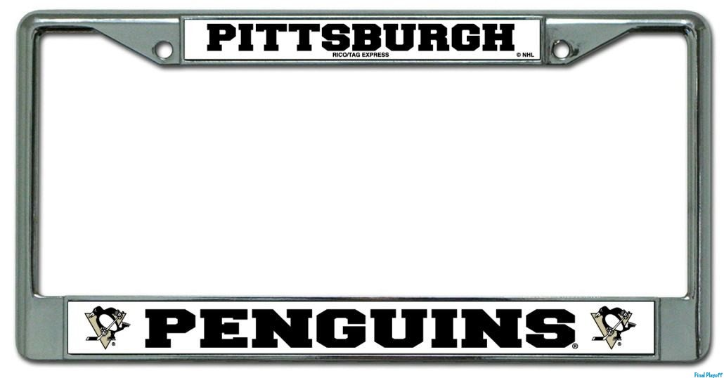 Pittsburgh Penguins license plate frame holder | Final Playoff