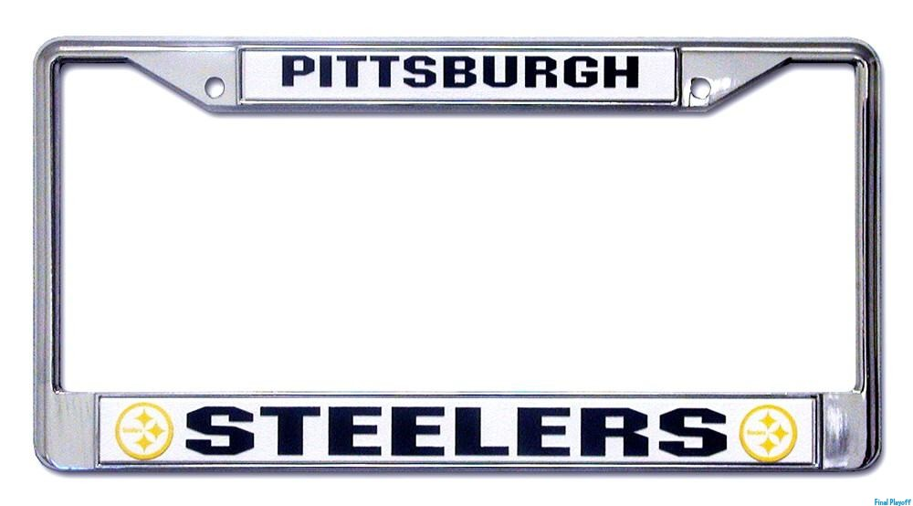 pittsburgh steelers license plate frame holder final playoff