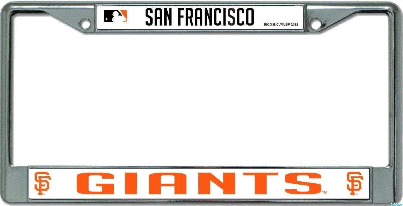 Old Fashioned San Francisco Giants License Plate Frame Sketch ...
