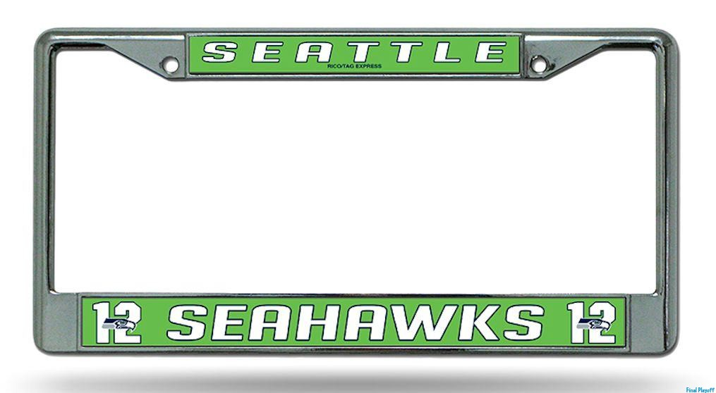Seattle Seahawks License Plate Frame Holder 12th Final