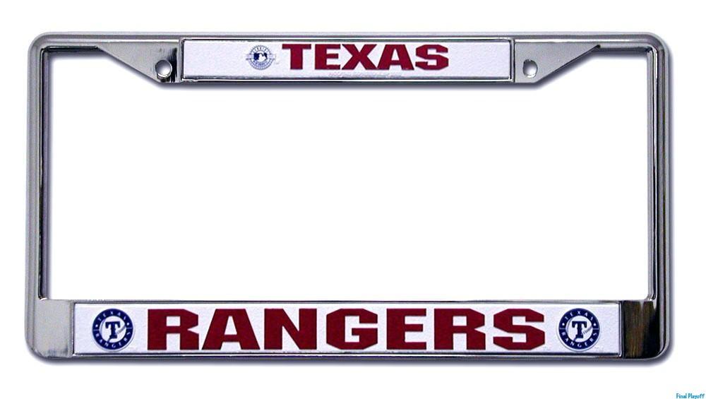 Texas Rangers license plate frame holder | Final Playoff
