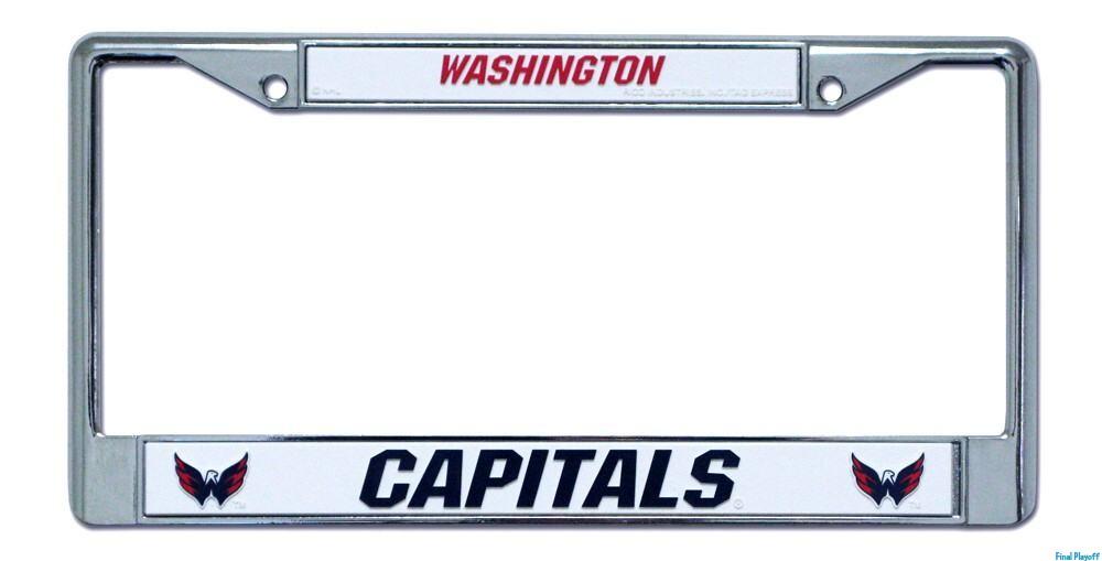 Washington Capitals license plate frame holder | Final Playoff